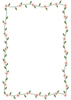 Frame Border Design, Boarder Designs, Page Borders Design, Borders For Paper, Borders And Frames, Flower Backgrounds, Flower Wallpaper, Photo Collage Template, Bullet Journal Ideas Pages