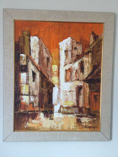 MCM Original Painting - European Streetscape - Framed - Signed by Artist - signature too difficult to make out - approx x Original Paintings, Art Painting, Painting, Painting Prints, Art, Artist Signatures, Prints