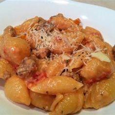 Cheesy Sausage Pasta Allrecipes.com