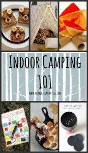 Bring the best that nature has to offer inside! Check out the Charlotte Aquatics Indoor Camping 101 Guide – perfect for those cold, rainy and snowy days! Indoor Activities For Kids, Camping Activities, Crafts For Kids, Sensory Activities, Indoor Camping, Camping 101, Camping Parties, Camping Theme, Girl Scout Camping
