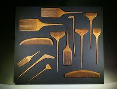 Kushi - Japanese Dressing Combs. Carved Boxwood.