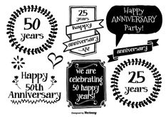 Hand Drawn Anniversary Labels - https://www.welovesolo.com/hand-drawn-anniversary-labels/?utm_source=PN&utm_medium=welovesolo59%40gmail.com&utm_campaign=SNAP%2Bfrom%2BWeLoveSoLo