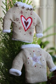 Rainbow of Stitches: Christmas Ornaments-Christmas Sweaters