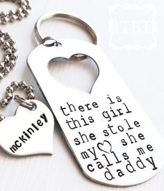 There is this Girl... Daddy/Daughter Keychain by shopSHINElife