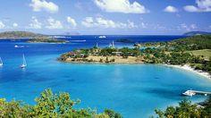 Trunk Bay on St. John in the Virgin Islands - has 225-yard-long Underwater Trail of reefs
