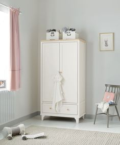 The two-tone collection Life is all about contrast, and our Lucca nursery collection embodies that. Bringing together a quality finish with soft grain accents, Lucca is the perfect combination for a long-lasting nursery that is more than just a place Storage Drawers, Storage Spaces, Tall Cabinet Storage, Wardrobe Furniture, Wardrobe Cabinets, White Changing Table, Pink Shelves, Girl Nursery Themes, Nursery Ideas