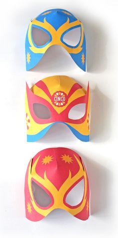 Free printable masks Lucha Libre Luchador! http://printablepaperproducts.com/festival/cinco-de-mayo-printables