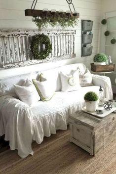 34 Comfy Rustic Farmhouse Living Room Design Ideas -