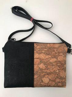 Items similar to Cork Bag/Crossbody Bag/Cellphone Bag/Clutch Bag/Pouch/Purse - Black/Emerald on Etsy Cork Fabric, Vegan Handbags, Diy Handbag, Crossbody Clutch, Black Cross Body Bag, Zipper Bags, Purses And Bags, Pouch, Quilting