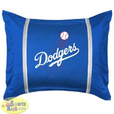 Sports Coverage MLB Los Angeles Dodgers Sidelines Pillow Sham - SportsKids Superstore