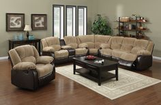 3Pc Motion Sectional & Recliner