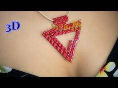 Beaded Pendant Spiral Triangle. 3D ~ Seed Bead Tutorials