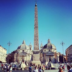 Santa Maria del Popolo is not to be missed for its famous chapels decorated by Raphael and Caravaggio