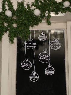Window decoration with Chalk marker