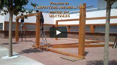Montaje pérgolas y porches carpintería para restaurantes PARTE UNDÉCIMA MONTAJES M3