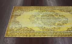 Winsdor Overdyed Grove Funky Yellow Rug | Traditional Rugs