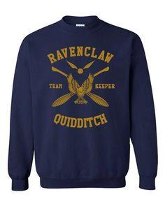 Ravenclaw KEEPER Yellow Quidditch Team Unisex Crewneck Sweatshirt PA New