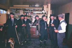 A group of Irish farmers at a pub, 1963.-52 Photos Of Classic Cool That Will Make You Wish We Dressed Like We Used To