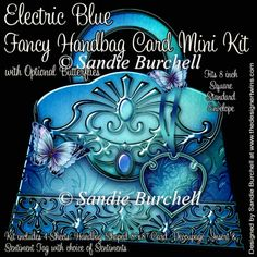 Electric Blue Fancy Handbag Card Mini Kit : The Designer Twins ...where creativity encounters quality and value