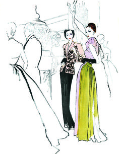 "Bernard Blossac. I want the book this is from-""Masters of Fashion Illustration"". I miss doing this."
