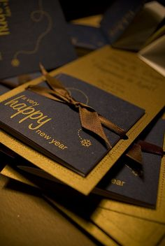 Like the simple packaging for the happy new year card #packaging #design #typography #card