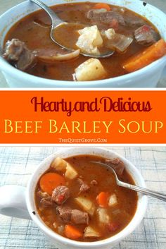This Beef Barely Soup is soo good you will have your family coming back asking for seconds and thirds!
