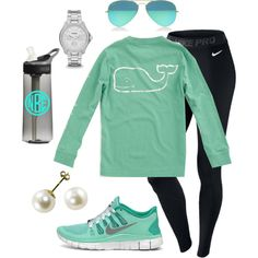 A fashion look from February 2014 featuring NIKE activewear pants, NIKE athletic shoes and FOSSIL watches. Browse and shop related looks.