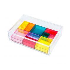 Boîte à bijoux compartiments multicolores - Nomess