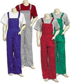 overalls in different colors