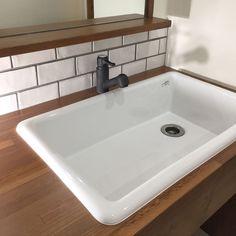Bathroom/ナチュラル/タイル/カフェ風/実験用シンク/病院用シンク...などのインテリア実例 - 2017-03-04 13:15:36 | RoomClip (ルームクリップ)