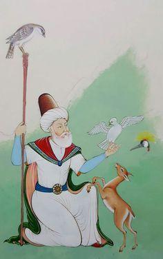 Sükut-u Lisan Selameti İnsan Mystical Pictures, Children's Comics, Islamic Paintings, Iranian Art, Islamic Art Calligraphy, Painting Lessons, Retro Futurism, Aesthetic Art, Miniatures