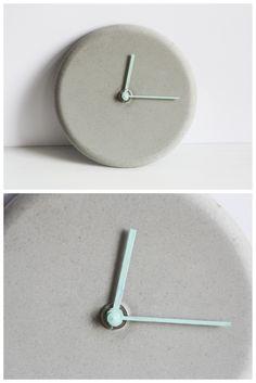 DIY Idee Beton Uhr || DIY idea concrete wall clock