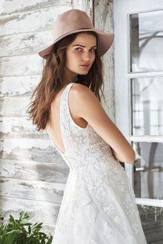 7434ad90dac6 Style 66042: Allover Lace V-neck Illusion Bodice A-line Gown | Lillian West