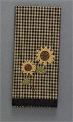 Sunflower Check Decorative Dish Towel
