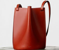 Celine Mini Pinched Bag - Natural Calfskin in Brick | Winter 2015 Bag Collection | $1850 USD