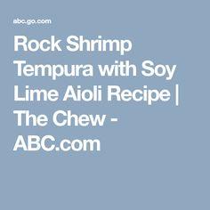 A tasty dish from Michael Symon! Aioli Recipe, Michael Symon, The Chew, Tasty Dishes, Seafood, Fish, Recipes