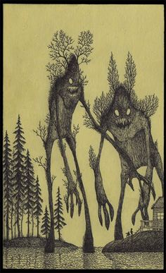 John Kenn Mortensen is a Danish artist who specialises in drawing monsters on Post-It notes.