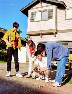 Baekhyun, Kai, D.O, Sehun - 190910 Fourth official photobook 'PRESENT ; the moment' Kyungsoo, Kaisoo, Chanyeol, Exo Ot9, Kpop Exo, Exo Group Photo, In This World, Exo Album, Exo Lockscreen