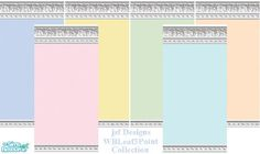 jsf Designs WMLeaf3 Collection #Georgian #Regency #Victorian #acanthus #paint #TS2 #thesims2 #customcontent #cc