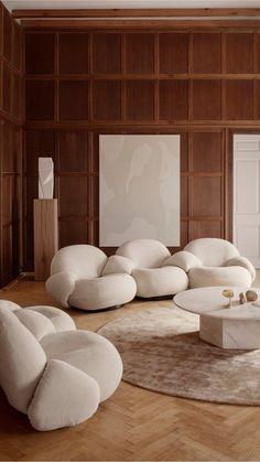 Interior Design Tips, Interior Styling, Japanese Home Design, Minimalist Interior, Minimalist Decor, Workspace Design, Lounge Areas, Modern House Design, Ottoman Sofa