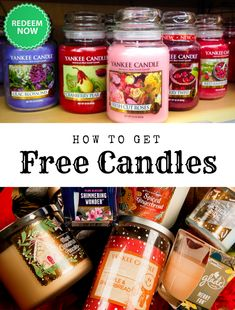Free Yankee and Glade candles now at Get It Free! #candles