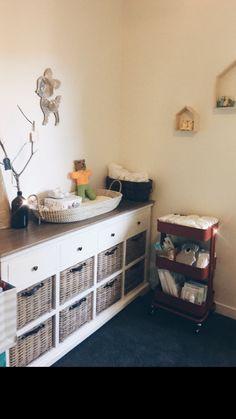 Rustic baby boy nursery room