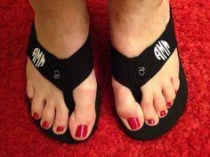 Walmart flip flops, HTV, apply with flat iron!