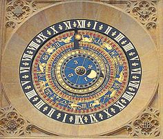 Astronomical clock at Hampton Court Palace, dated around 1540 and was originally commissioned by King Henry VIII