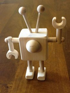Image of Wooden Robot
