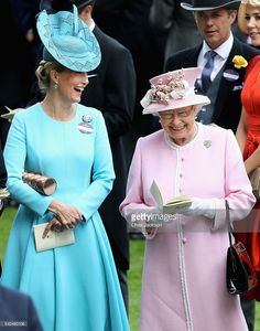 Queen Elizabeth II and Sophie, Countess of Wessex attend the second day of Royal Ascot at Ascot Racecourse on June 15, 2016 in Ascot, England.