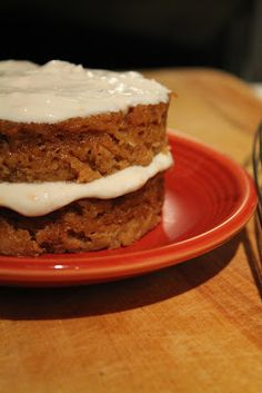 Feel-Good Carrot Cake with Cinnamon-Pecan Frosting for One   Write a Pumpkin, Bake Some Prose