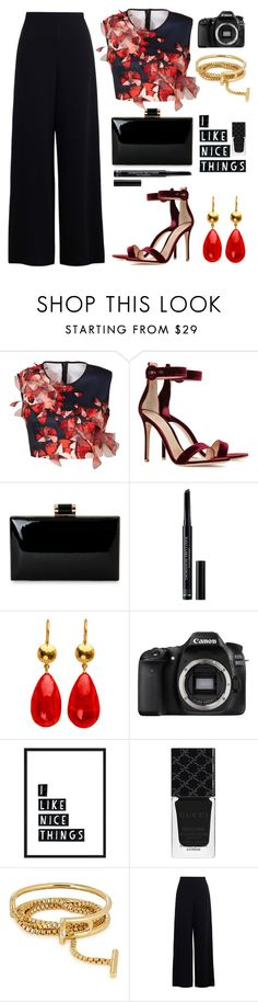 """""""Crop tops"""" by jan31 ❤ liked on Polyvore featuring Clover Canyon, Gianvito Rossi, Christian Dior, Eos, Gucci, Eddie Borgo and Zimmermann"""
