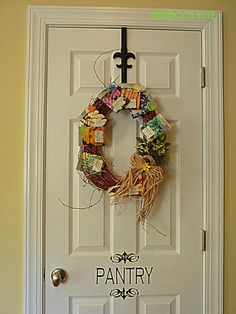 Summer Wreath-I like the pantry sign! The wreath is adorable with seed packets :)