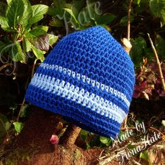Crochet Blues beanie hat by madebyFionaKate on Etsy